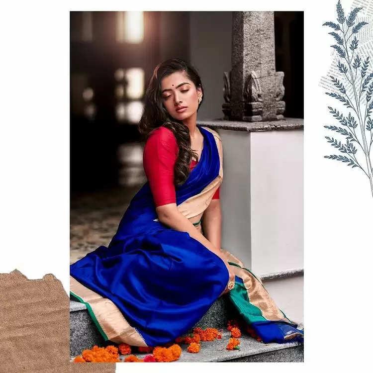 Fashion Tips : रश्मिका मंदाना साड़ी में दिख रही है परियो सी खूबसूरत ,आप भी ले सकती है उनसे ये टिप्स